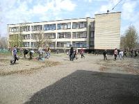 Южная сторона здания школы