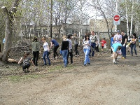 Место эвакуации мусора